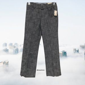 NWT Trouser Pant Career Textured Pockets Mid Rise